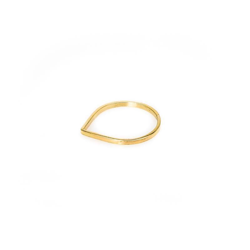 Small Dropping Handmade Ring-Gold