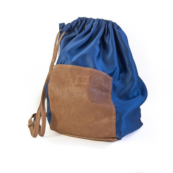 Meridian. Handmade, silk, and leather, drawstring bag by 3rd Floor Handmade Jewellery
