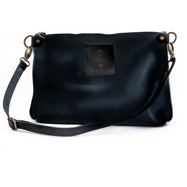 3rdfloor handmade leather bags City clutch bag black
