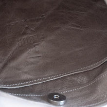 Load image into Gallery viewer, close up every day, leather bag gray,by 3rd-floor lab