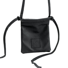 Load image into Gallery viewer, Gogo, black, handmade, leather, post  cross bag, by 3rd Floor