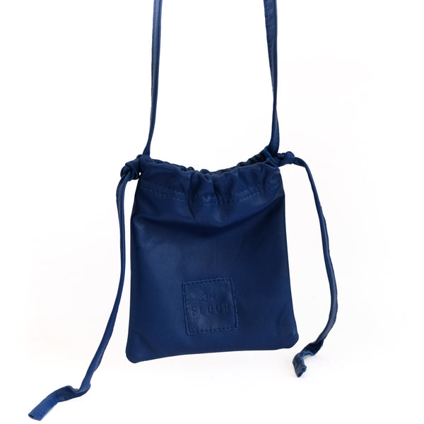 Gogo. Blue, leather, handmade bag, by 3rd Floor