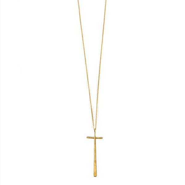 Handmade Cross Pendant 925 silver gold plated  by 3rdfloor jewels