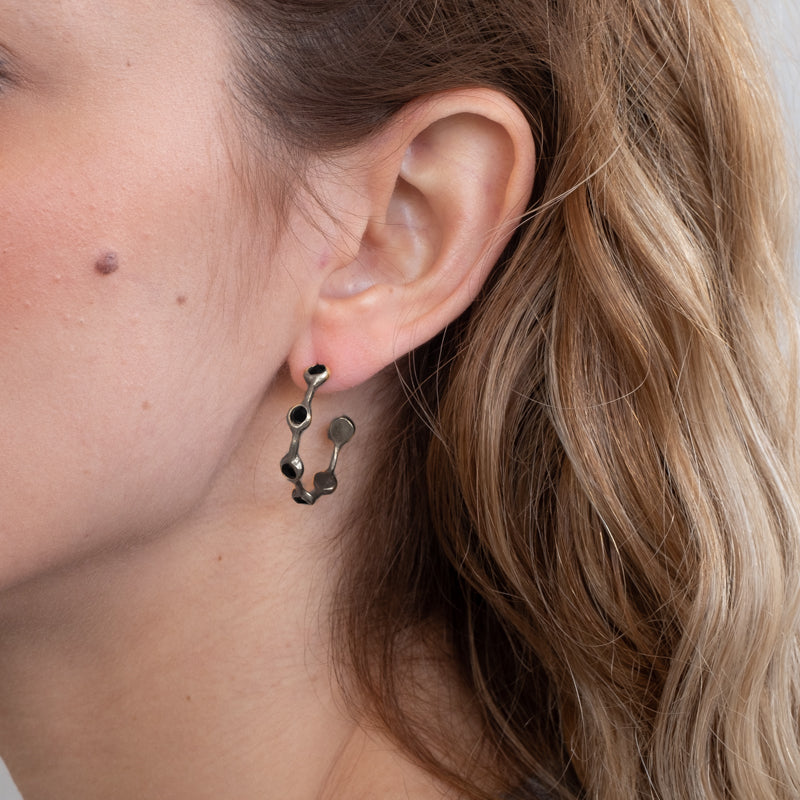 3rdfloor handmade berlin b earrings black