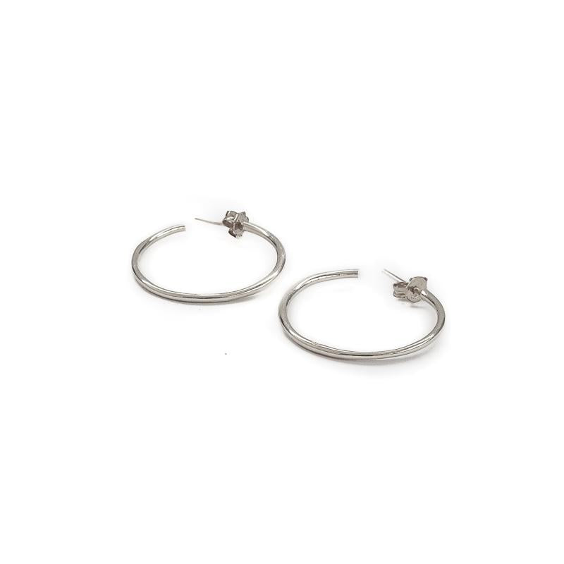 Hollow Extra Small Earrings-Silver