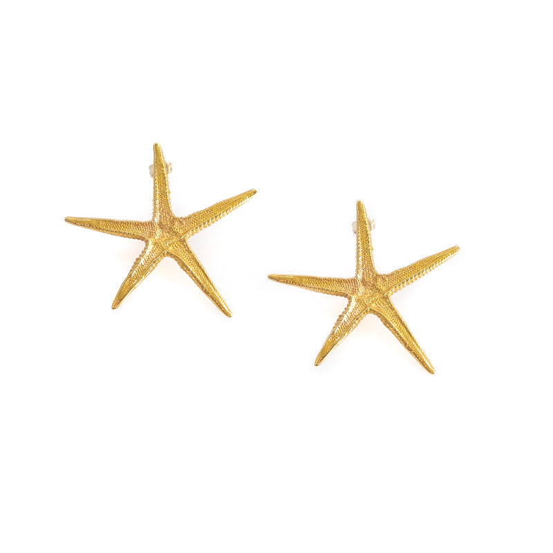 Starfish. Handmade, gold plated silver, starfish earrings. Discover these and many more summer jewellery, in our Summer Edition Collection