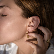 Load image into Gallery viewer, Faistos Disc Earrings-Gold