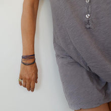 Load image into Gallery viewer, woman's hand with Big Cord Wristlet handmade by 3rdfloor