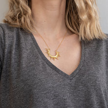 Load image into Gallery viewer, 3rdfloor handmade jewellery Horizon necklace gold