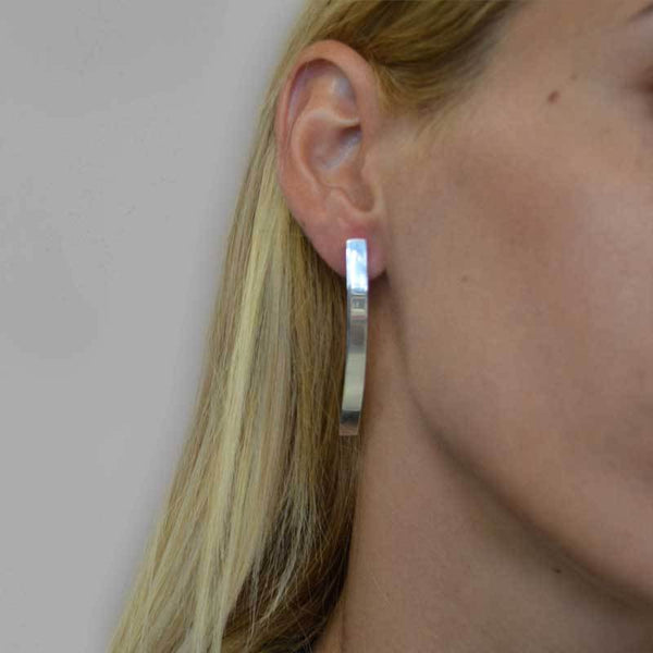 Rails Earrings-Silver