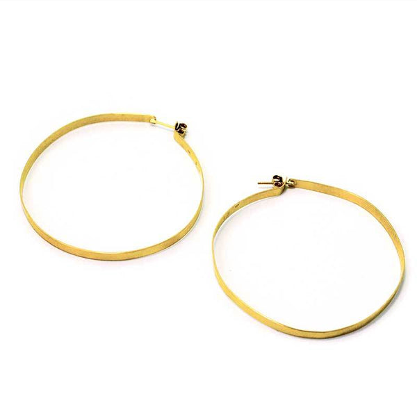 Longone handcrafted hoop earrings by 3rdfloor jewels gold