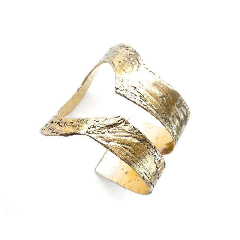 3rd floor Handcrafted statement cuff demetra gold