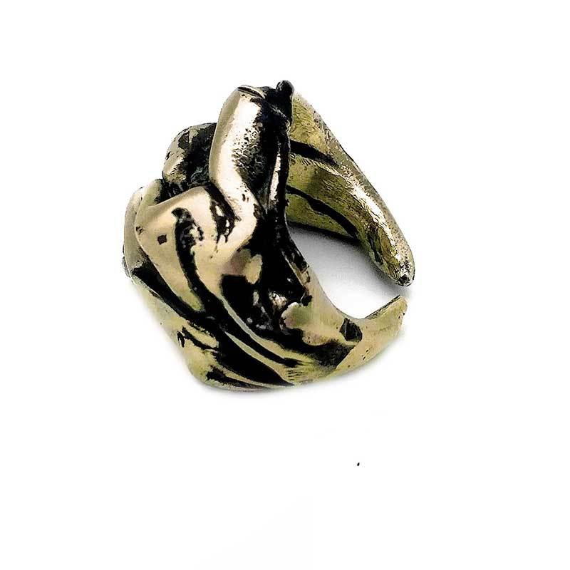 Gold plated handmade ring by 3rd Floor handmade jewellery