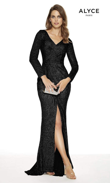 Alyce Paris 27359 Long Sleeve Sequin Formal Dress