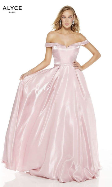 Alyce Paris Off the Shoulder Gown 60627