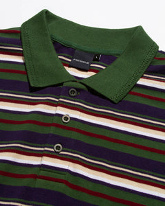Bullocks Stripe Polo Green