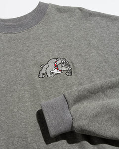 Bulldog Loose Crew Heather Grey