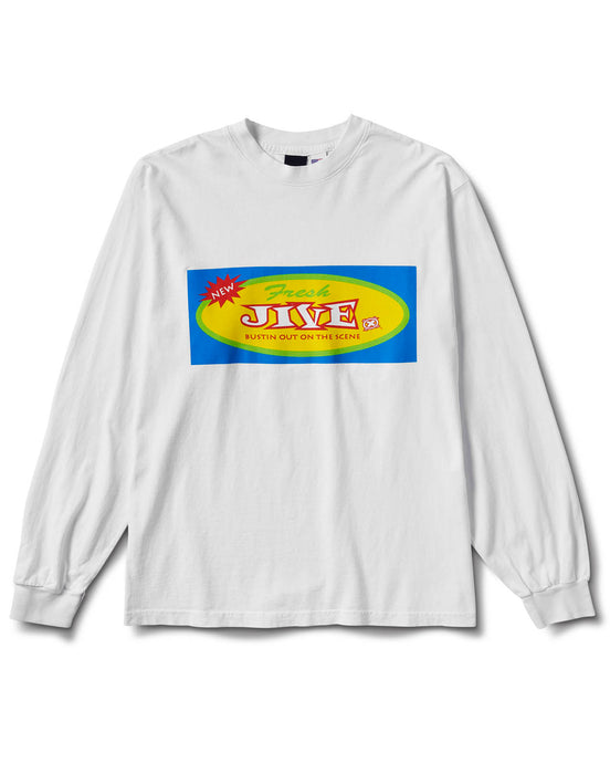 Bustin Out L/S Tee White