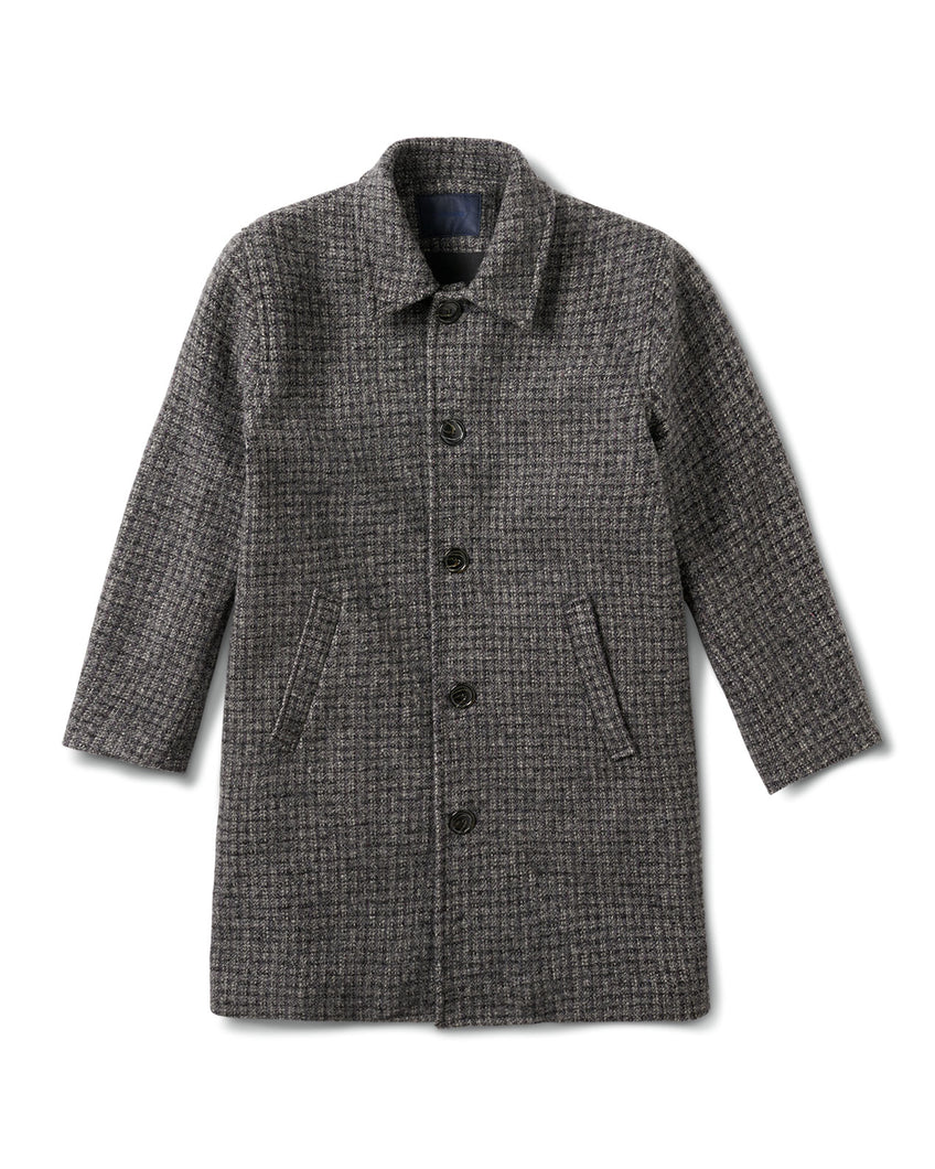 Central Coat Grey Check Cross