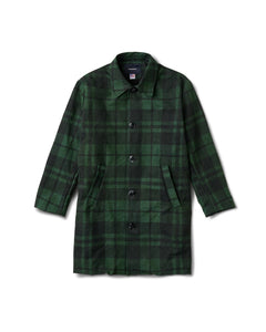 Central Coat Plaid Dark Grey Green