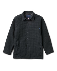Chavelo Jacket Charcoal Plaid Quilted
