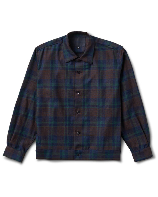 Raza Shirt Brown Blue Plaid