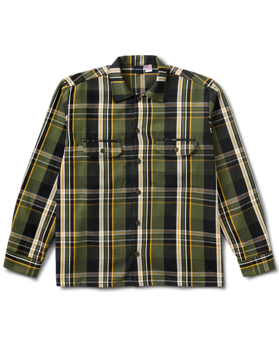 Plaid Workers Shirt Brown