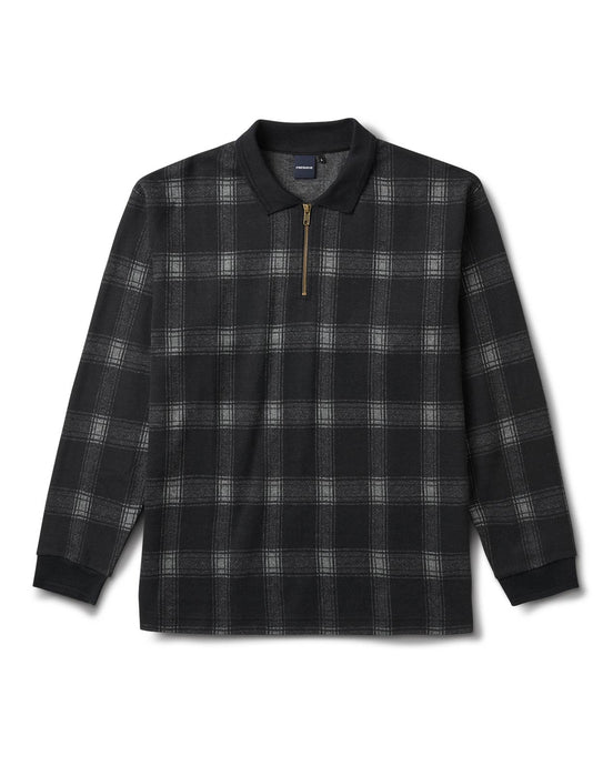 Chicano Plaid Polo Black