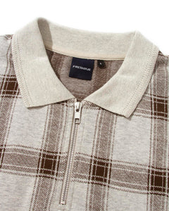 Chicano Plaid Polo Oatmeal Heather