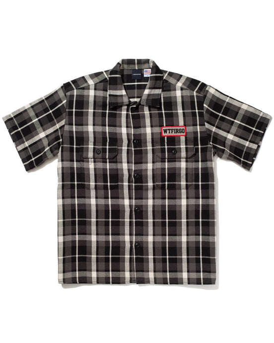 Bulldog Work Shirt Black Plaid