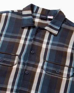 Plaid Workers Shirt Navy