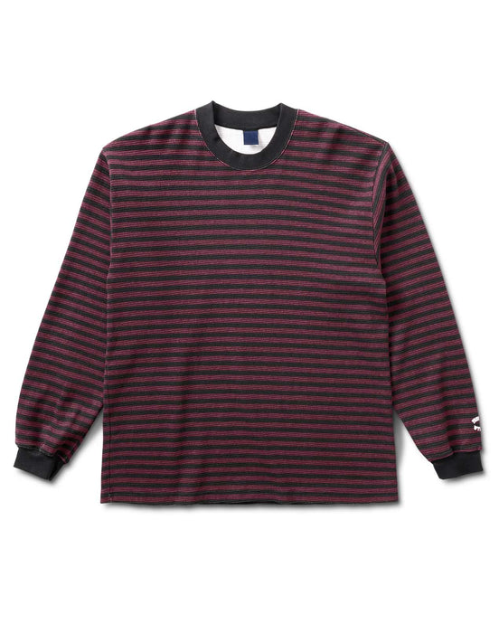Biker Stripe Thermal L/S Maroon