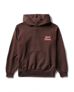 Hard Times Only Hoodie Brown