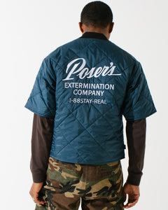 Service Short Sleeve Jacket Steel Blue