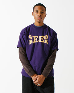 Beer & Weed S/S Tee Purple