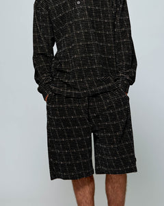 Oakwood Squares Short Black