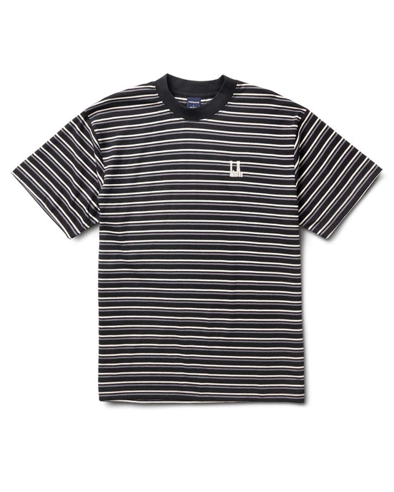 Ridge Stripe Tee Black