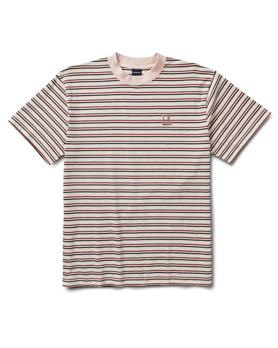 Ridge Stripe Tee White