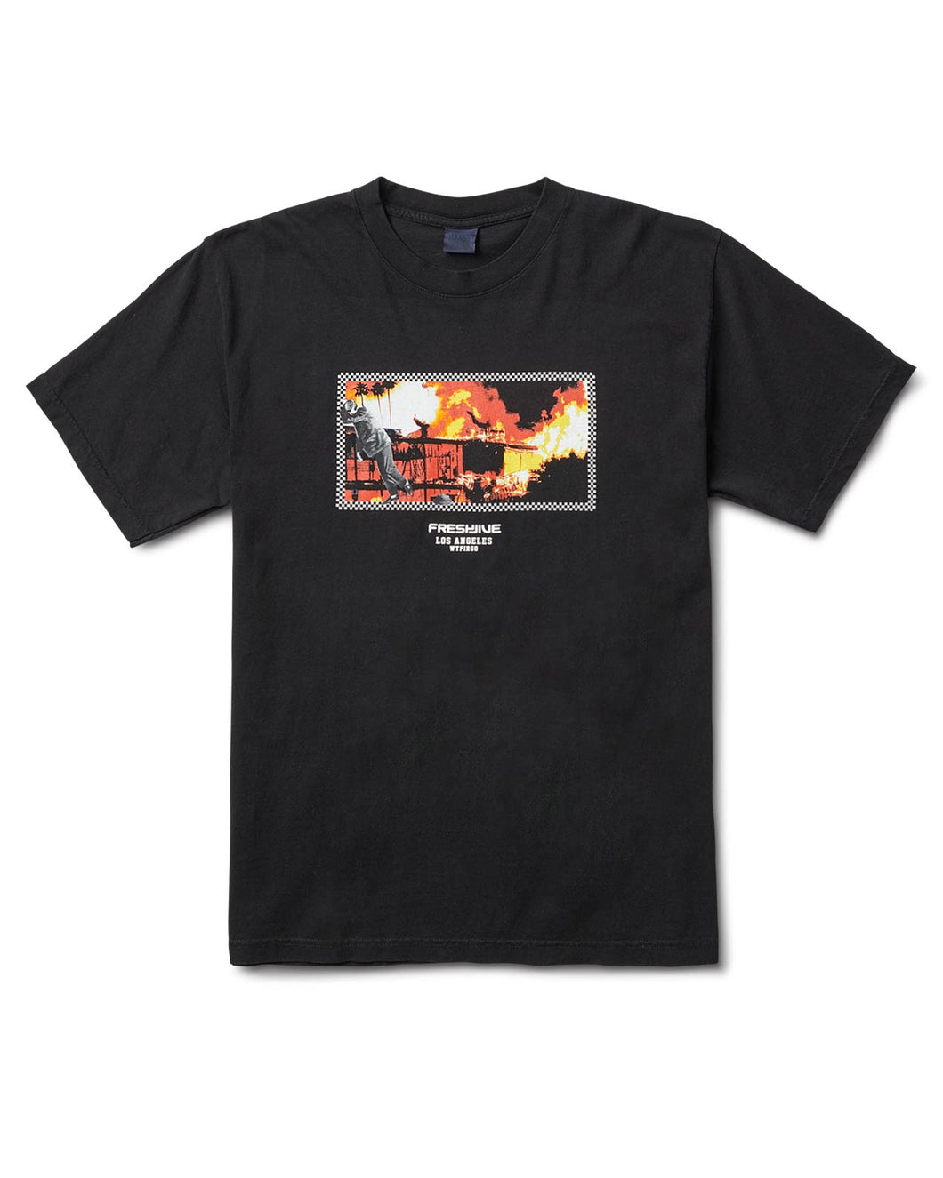 L.A. On Fire Tee Black