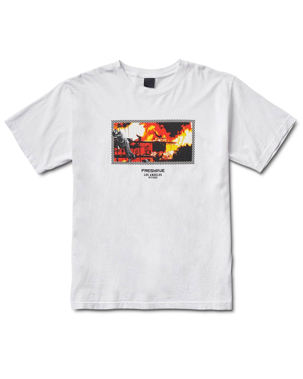 L.A. On Fire Tee White