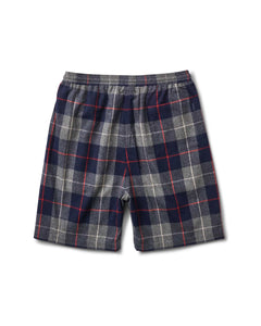 Stoner Short Navy Plaid