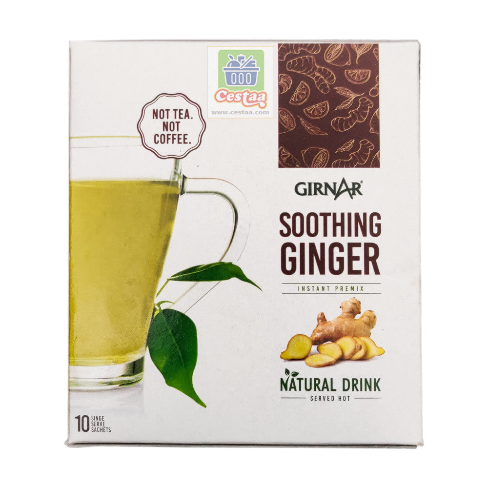 Girnar Instant Premix with Soothing Ginger Flavor. 10 sachets Cestaa Ireland Online Grocery Dublin