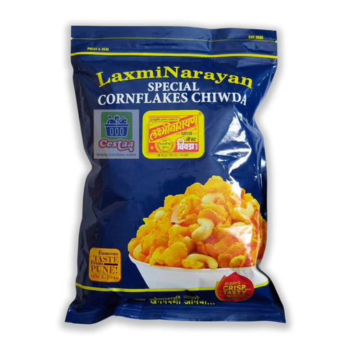 LaxmiNarayan Cornflakes Chiwda or Chivda or Chiwada Cestaa Ireland Online Grocery Dublin