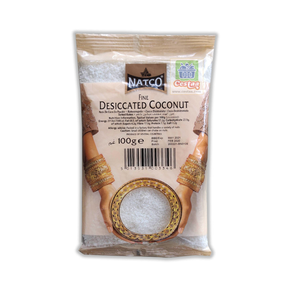Natco Coconut Desiccated Fine 100g Cestaa Ireland Online Grocery Dublin