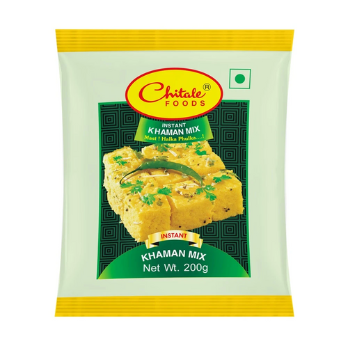 Chitale Bandhu is a very famous and well known brand from Pune for innumerable product varieties known all over India and abroad.  Enjoy using this instant Khaman Mix, also known as Dhokla or Dhokra or Dhokala for making absolutely soft and spongy dhokla snack in just 20min.  Please follow the exact instructions mentioned in the back of the packet to yield the perfect halka phulka dhokla.