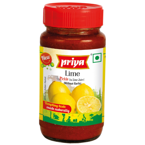 Priya Lime w/o Garlic Pickle 300g Cestaa Ireland