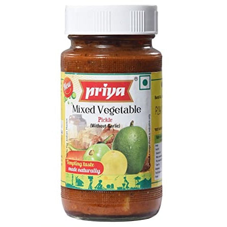 Priya Mixed Vegetable w/o Garlic Pickle 300g Cestaa Ireland