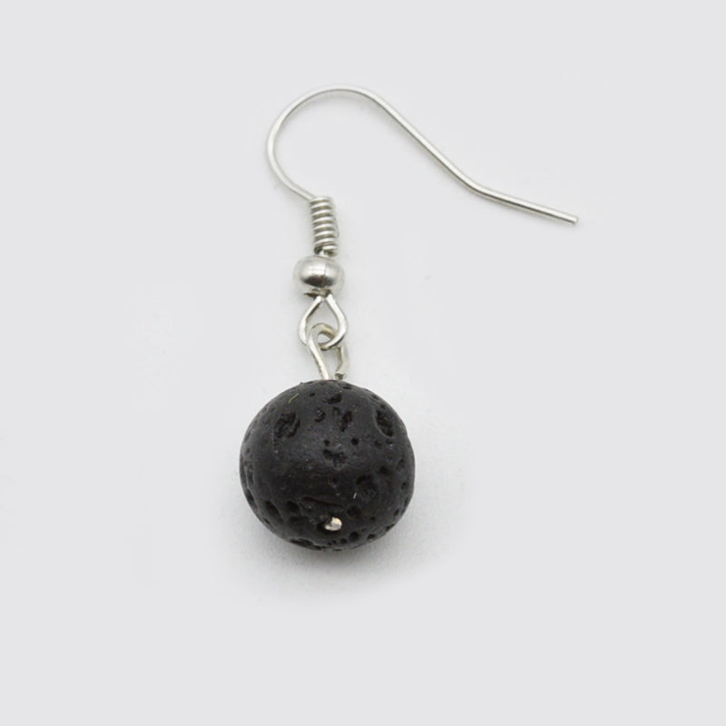 Black Lava Stone Earrings | Essential Oil Diffuser