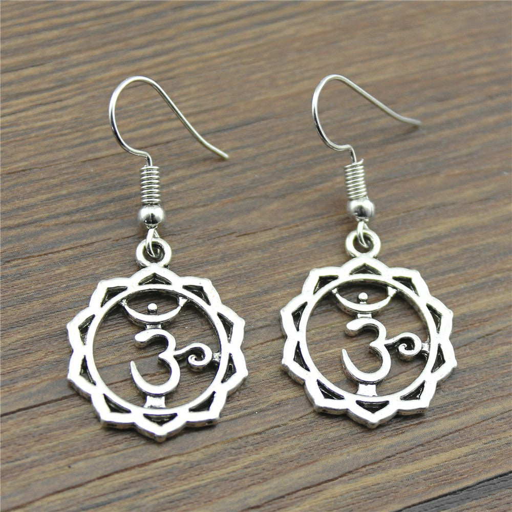 Simple Design Yoga | Om Drop Earrings
