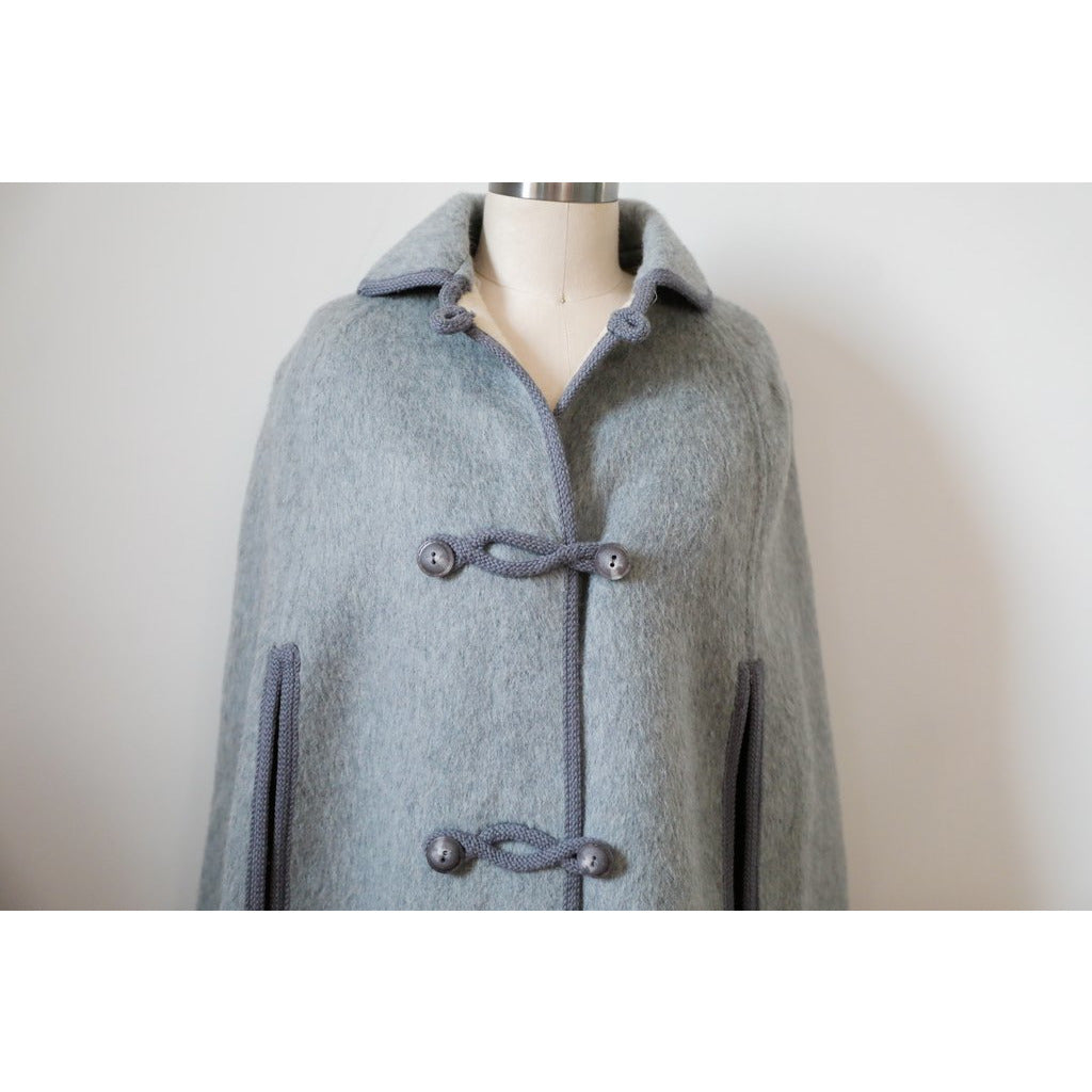 Grey Wool Double Sided Cape